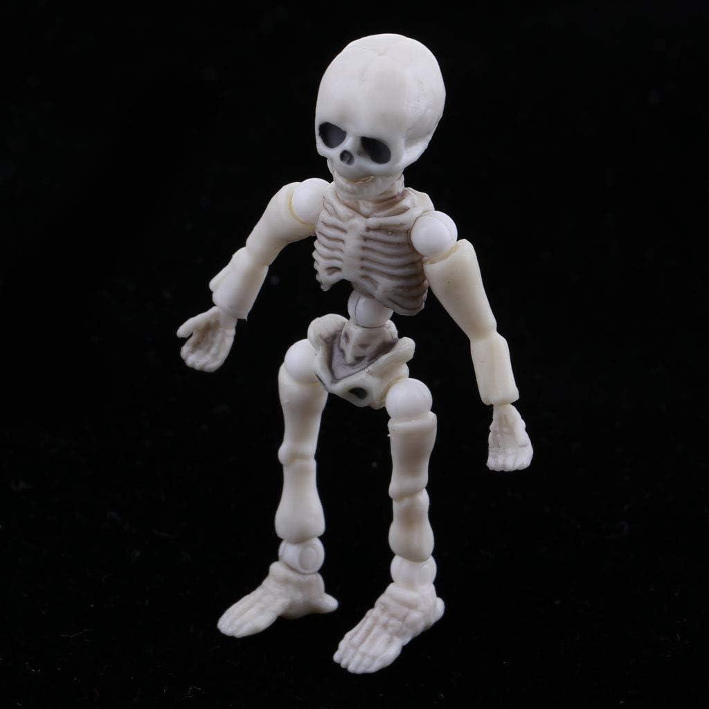 Baoblaze 5.4cm Poup/ée Squelette et Mains Bras Jambes Mobiles Enfant Cadeau