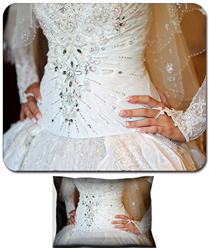 Luxlady Mouse Wrist Rest and Small Mousepad Set, 2pc Wrist Support design IMAGE: 41764624 Corset wedding dress for bride