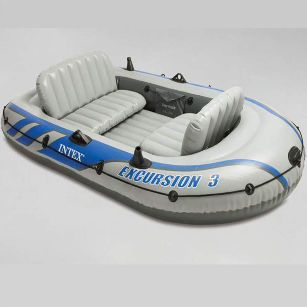 Outdoor Assault Boat Comfortable Kayak Leisure Folding Boat 12 Person Inflatable Boat Marine Sports Fishing Adventure Thick WearResistant PVC Plastic 262  157  42CM