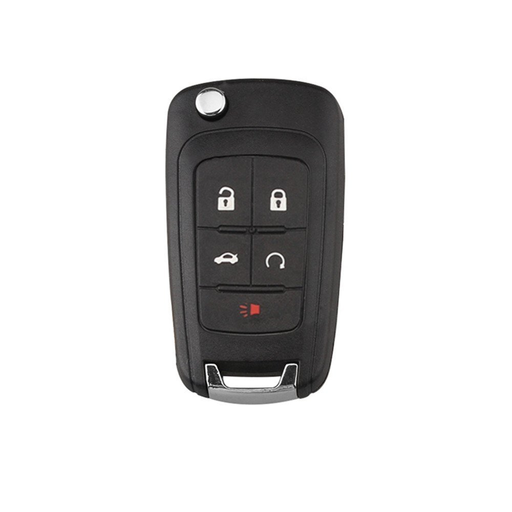 Replacement Key Shell for Keyless Flip Folding Key Shell 4 Buttons Remote Key Case Fob for 2010-2014 Camaro Cruze Equinox Malibu Sonic Impala (OEM: OHT01060512) HuihuangAMZus sku1394