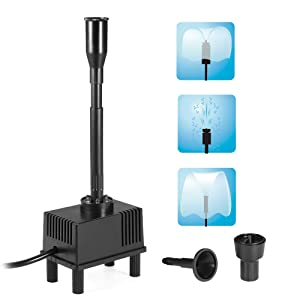 Decdeal 10W 160GPH Submersible Water Pump Fountain with LED Light for Aquarium Fish Tank Pond Garden 600L/H AC 110V