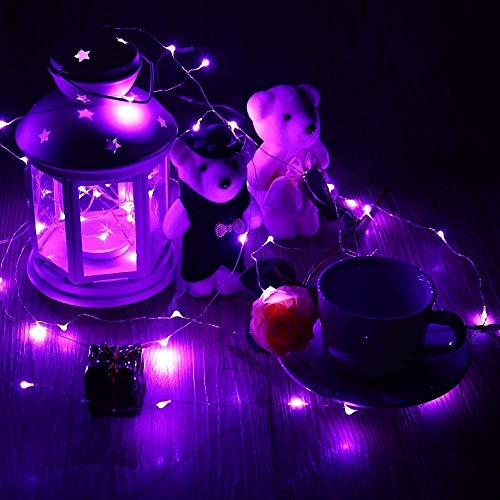 10ft/3M 30LEDs Battery Powered Fairy String Lights, Purple Fairy String Lights for Home Bedroom Indoor Outdoor Christmas Tree Party Decoration - Purple
