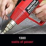 Master Appliance ProHeat Series Plastic Welding Kit with Variable Temp Heat Gun & Starter Welding Rods, 1000-Degree Fahrenheit 120V 1300 Watts