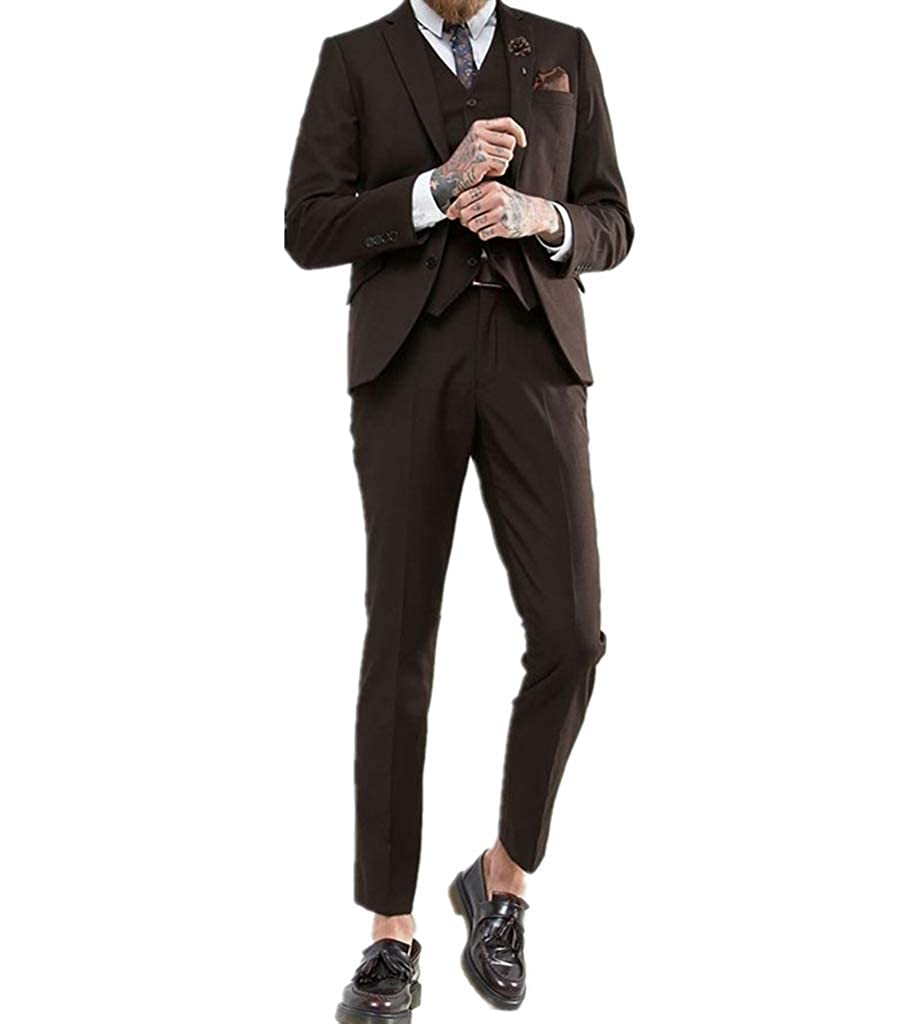 Judi Dench Costume 3 pi¨ ¨ Ces pour Hommes Slim Fit One Button Costume  Blazer b6b7af6881c