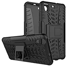 HUAWEI Y6II Cover Hybrid DWaybox Rugged Heavy Duty Armor Hard Back Cover Case for HUAWEI Y6II / Y6 II / Y6 2 (2016) / Honor Holly 3 / Honor 5A 5.5 Inch Stand Case with Kickstand (BlacK)