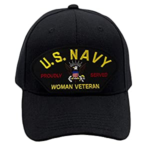 Patchtown US Navy - Woman Veteran Hat/Ballcap Adjustable One Size Fits Most