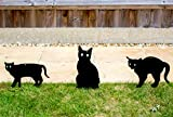 Pestbye Set of 3 Cat Scarers Cat Silhouettes with Lifelike Eyes