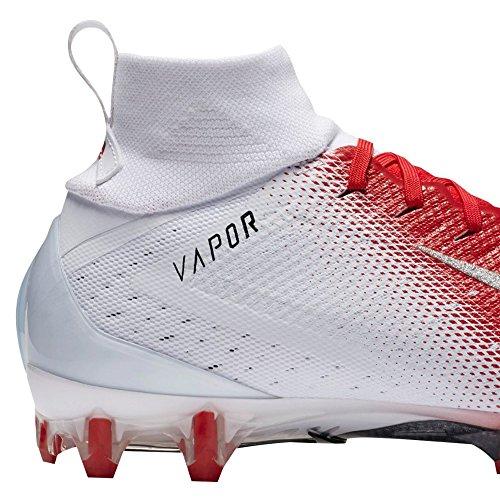 NIKE Men's Vapor Untouchable 3 Pro Football Cleats White/Metallic Silver-university Red visit new sale online 5FXNBw