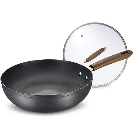 DUDDP Batería de Cocina Sartén Hierro Cacerola Sin ...