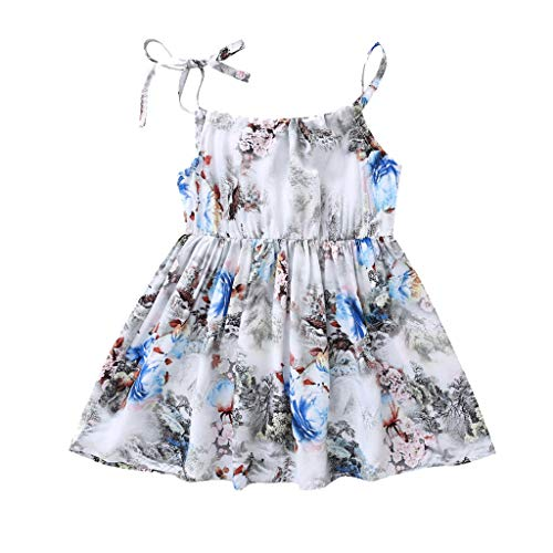 Respctful✿ Baby Girl Sleeveless Rompers Floral Spaghetti Straps Ruffled Bodysuit Infant Summer Clothes Outfits