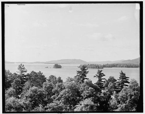 Photo: Green Island,south,Sagamore,Lake George,New York,NY,Detroit Publishing - Shopping George Lake Ny