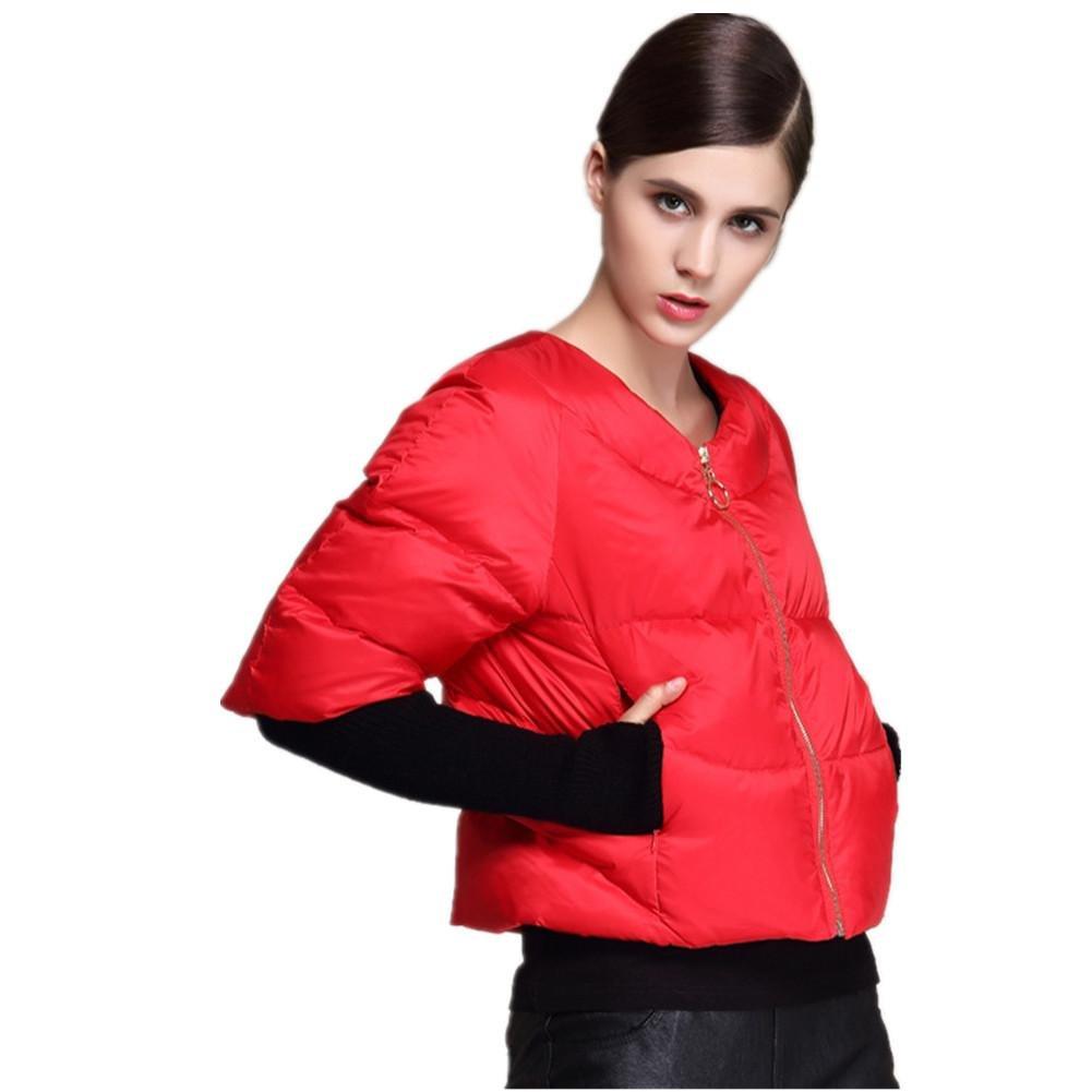 SHISHANG La chaqueta de señora abajo se engrosaría hacia abajo con una manga de siete puntos hacia a...
