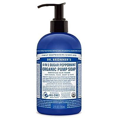 Dr. Bronner's Organic Sugar Pump Soap - Peppermint, 12oz.