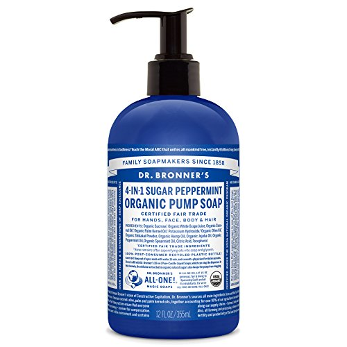 Dr. Bronner's Fair Trade & Organic Shikakai Hand & Body Pump Soap - (Spearmint/Peppermint, 12 oz)