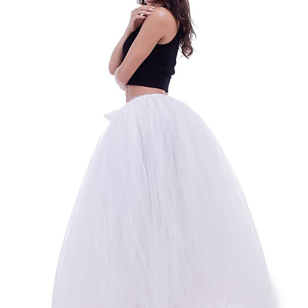 Maternity Photography Props Tutu Tulle Skirts Maxi Long for Photos Shoot - White