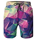 Alistyle Boys Teens 3D Diamond Print Graphic Summer Casual Beach Swimming Vacation Surfing Shorts