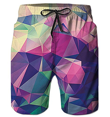 c4984f14aa07a Alistyle Mens Swim Trunks Summer 3D Print Graphic Casual Athletic Swimming  Short