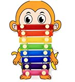 Polymer Musical Toys 8-Tone Chinese Zodiac Infant Child Octave Clappers Piano Percussion(Monkey)
