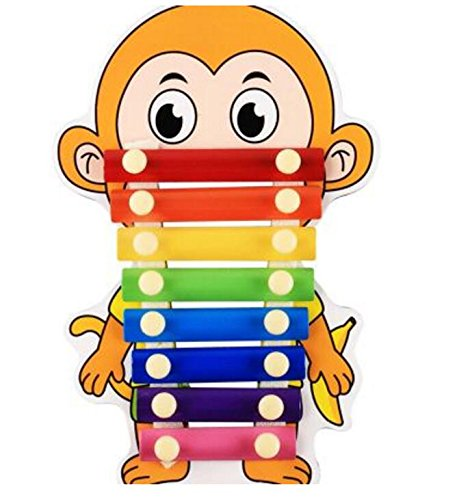 Polymer Musical Toys 8-Tone Chinese Zodiac Infant Child Octave Clappers Piano Percussion(Monkey) by Polymer