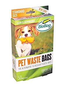 Bio Bag Dog Waste Bags, 50 count (Pack of 4)