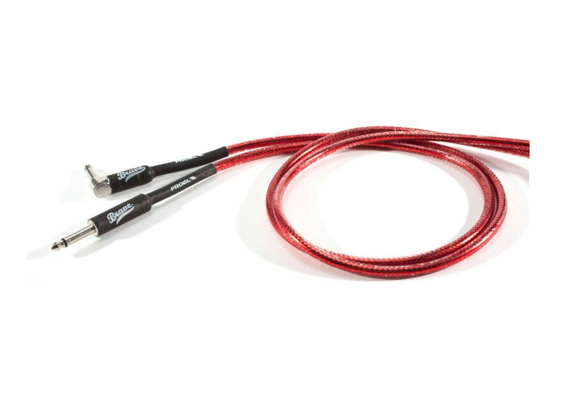 5mt. Proel BRV120LU5TR Cavo per strumenti Jack Mono 6.3 mm a Jack mono 6.3 mm ad angolo