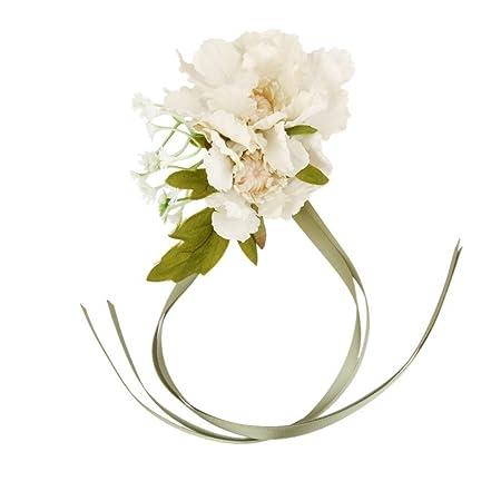 Pixnor wedding rose wrist corsage silk flower brides bridesmaids pixnor wedding rose wrist corsage silk flower brides bridesmaids decoration mightylinksfo