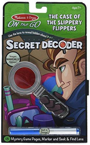 Melissa & Doug On the Go Secret Decoder - Case of the Slippery Flippers (Best Super Juniors)