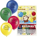 "Curious George 12"" Latex Balloons (8 count)"