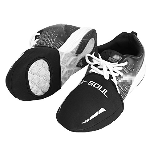 2 Pairs Cycling Shoe Toe Covers with Opening for Cleats, Neoprene