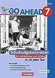 Go Ahead - Ausgabe für die sechsstufige Realschule in Bayern: 7. Jahrgangsstufe - Schulaufgabentrainer - Neubearbeitung, inkl. CD und Lösungen