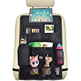 "Backseat Car Organizer :: Extra Large (26.7"" x 17.7"") Hanging Storage Bag with Easy Access Tablet Holder + Multiple Pockets :: Fits All Car Seats, Hangs Flat, Holds Toys, Bottles & More by Ride Beauty"