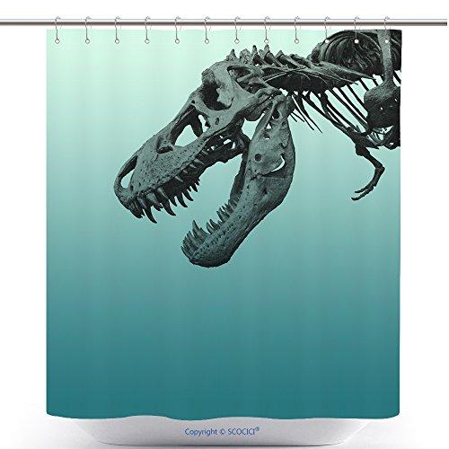 Animal Bones Terrible Dinosaur Fossils Bathroom Shower Curtain - Waterproof And Mildewproof Havy-Duty Polyester Fabric Bathroom Curtain Ideas (72