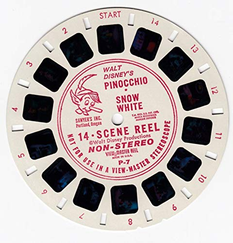 View Master Walt Disney's Pinocchio & Snow White Non-Stereo 14 Scene Viewmaster Reel #P-7 by View Master (Image #1)