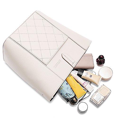 borsa cuoio della dell'unità borsa spiaggia di di bianca e tendenza borsa benna 2pcs della elaborazione di messi di della della di leggera spalla borsa di Borsa impermeabile di viaggio Lvtree totalizzatore wqB0Ox