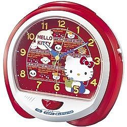 SEIKO  Sec-cq114r Sanrio Hello Kitty Alarm Clock Table Clock