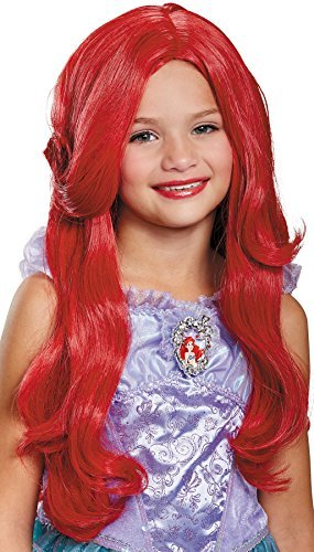 Girl's Disney Ariel Deluxe Wig Child Halloween Costume Accessory by Disguise (Image #1)