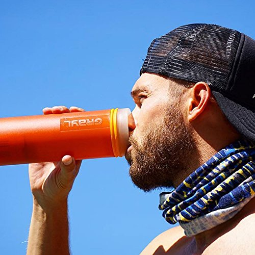 GRAYL Ultralight Water Purifier [+ FILTER] BOTTLE (Orange)