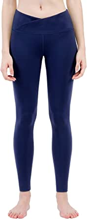 TaiBid Women's Workout Leggings Fitness Sports Gym Running Yoga Athletic Pants V Cut, Size S-XL