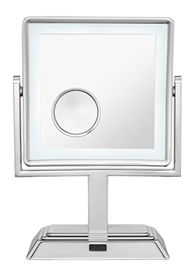 Amazon.com : Conair Double Sided Cordless Rechargeable LED Lighted Makeup Mirror, Polished Chrome Finish : Beauty