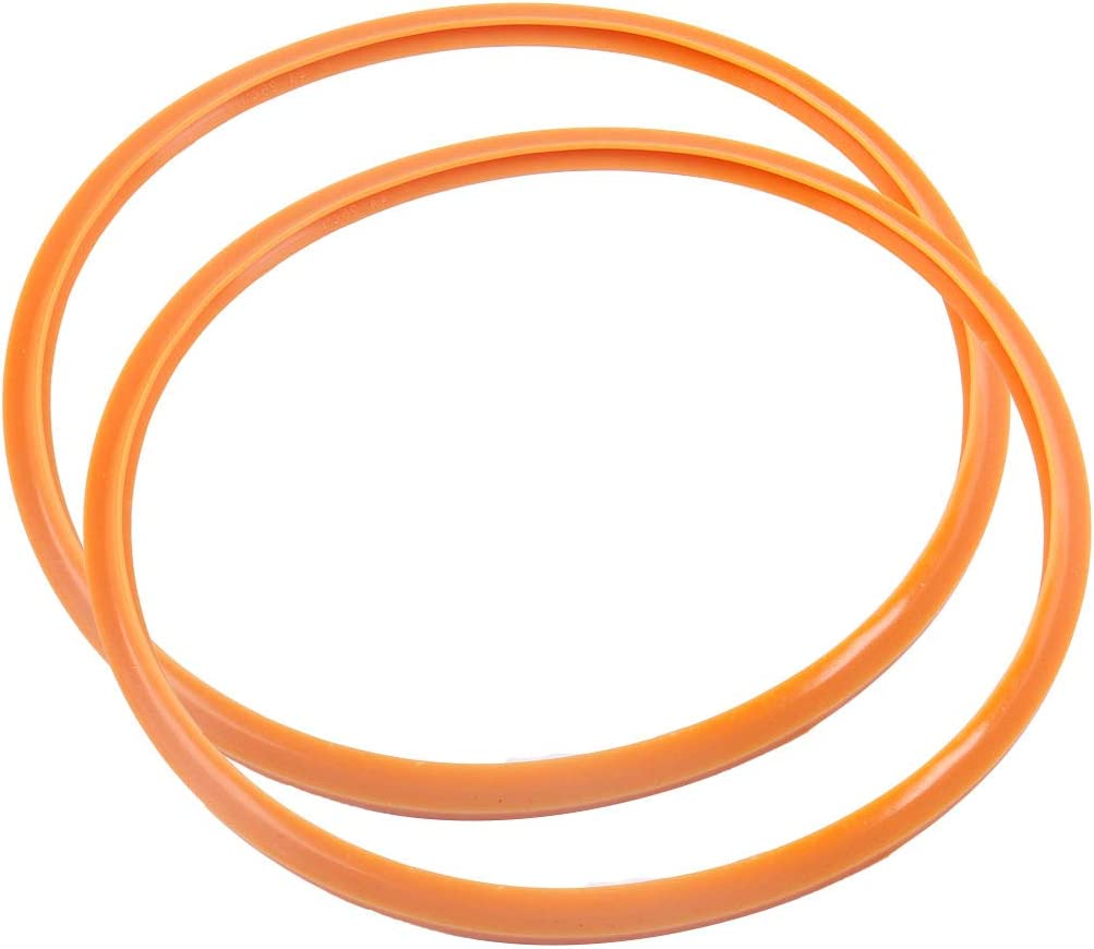 uxcell Cooker Sealing Ring, 36cm Silicone Rubber Gasket Sealing Ring for Cookers, Set of 2