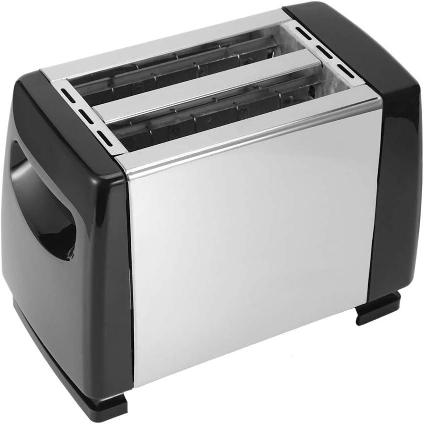 Nicoone Bread Toasters,750W 2 Slice Bread Toasters Machine,6 Gears Temperature Control,Slim Body Designs,Breakfast Machine for Kitchen Cooking