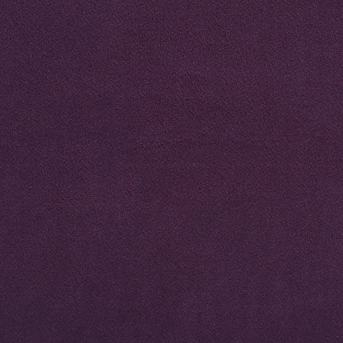 (Eggplant Lilac Purple Plain Solid Velvet Performance Grade Fade Resistant Upholstery Fabric by the yard)