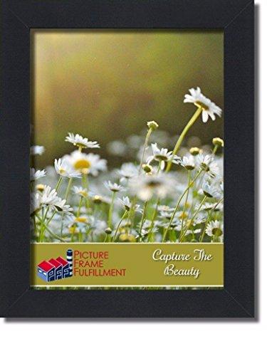 PictureFrameFactoryOutlet 11 x 14 Picture Frame 1.25 Inch Wide Black Flat Mou... Flat Black Frame