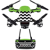Skin for DJI Spark Mini Drone Combo - Lime Chevron| MightySkins Protective, Durable, and Unique Vinyl Decal wrap cover | Easy To Apply, Remove, and Change Styles | Made in the USA