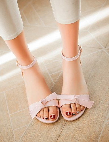 Outdoor Dress Toe ShangYi Beige Women's Heel Casual Pink Blue Heels Sandals Shoes Beige Peep pT0q4w