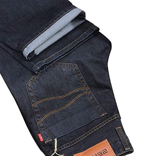 Especial Denim Da Gamba Jeans Nero Pantaloni 88 Leggeri Dritti Attillati Estilo A Dritta Maniche Uomo Lunghe Bobo XtwEvqq