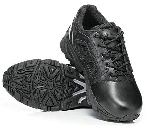 GLSHI Hombres Tapa Baja Al Aire Libre Tactical Zapatos CóModo Transpirable Tactical Botas Usan Desierto Tactical Botas Black