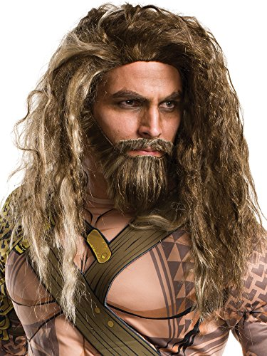 Rubie's Men's Batman V Superman: Dawn Of Justice Aquaman Beard and Wig, As Shown, One Size ()