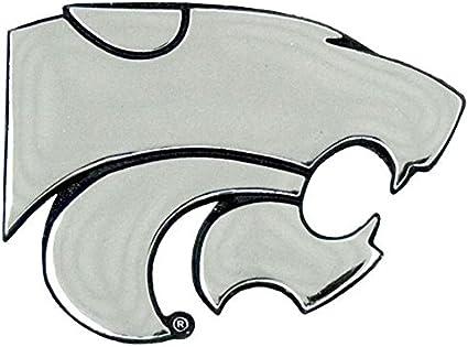 Kansas State University Wildcats Powercat NCAA College Chrome Plated Premium Metal Car Truck Motorcycle Emblem