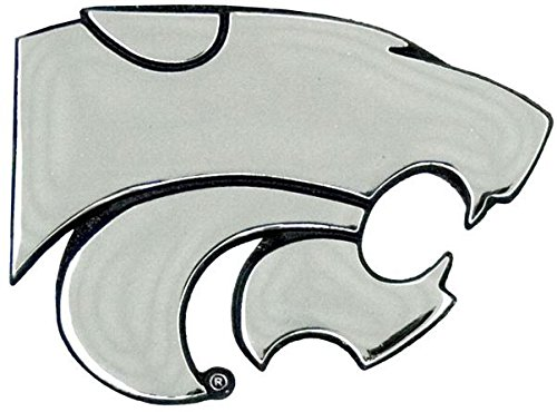 Patch Collection Kansas State Wildcats Premium Solid Metal Chrome Plated Car Auto Emblem
